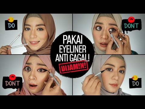 Cara Cepat Anti Gagal! Pakai Eyeliner Pensil, Cair, Spidol + 4 Makeup Looks | Do & Donts