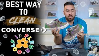 Best way to clean Converse Golf le Fleur OX Purple Heart with Reshoevn8r
