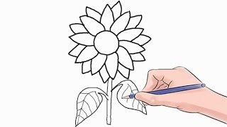 Easy step by step tutorial on how to draw a sunflower, pause the video at every step to follow the steps carefully. Enjoy ;)- Facebook: https://www.facebook.com/HowtoDrawSimply