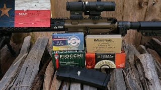 "In this video, I perform some accuracy testing with the Sons of Liberty Gun Works (SOLGW) Rifle Build with their 16"" combat grade barrel chambered in 5.56 with a 1:7 twist rate. While the rifle performed well with a variety of different loads, the Federal Premium 77 grain Sierra Match King BTHP Match was the winner.Thanks for watching and subscribing! Keep up the good fight!~The Lonestar PatriotCheck out Facebook.com/TheLonestarPatriot"
