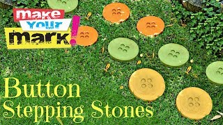 How to: Button Stepping Stones DIY - YouTube