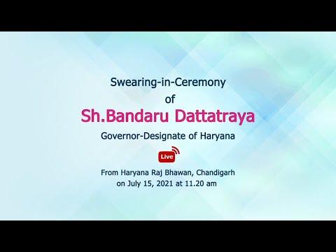 Embedded thumbnail for Swearing-in-Ceremony of Sh.Bandaru Dattatraya, Governor-Designate of Haryana