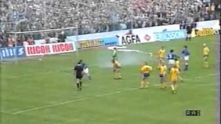 Thomas Ravelli hält Elfmeter gegen Italien (1987)