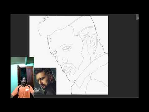 Video Sudeep | kicha | digital painting | the villain | art by sandesh mahale download in MP3, 3GP, MP4, WEBM, AVI, FLV January 2017