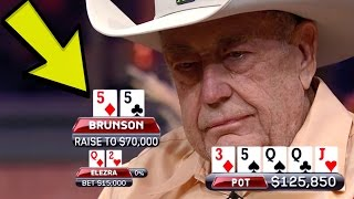 Video Doyle Brunson TRAPS Elezra With The FULL HOUSE In A Six-Figure Pot MP3, 3GP, MP4, WEBM, AVI, FLV Juli 2018