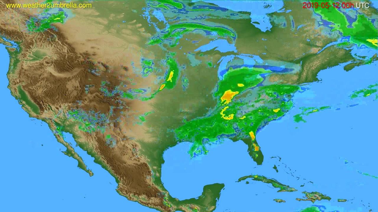 Radar forecast USA & Canada // modelrun: 12h UTC 2019-05-11