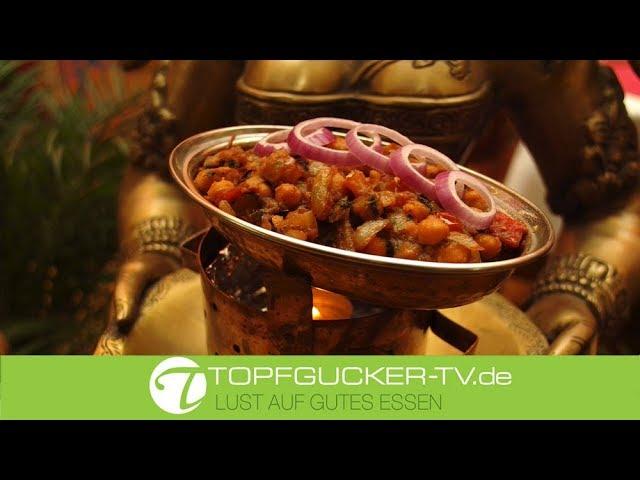 Chana Masala - Kicherebsen mit Currysauce