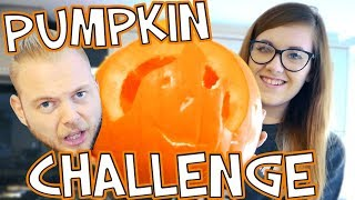 PUMPKIN CARVING CHALLENGE!! SQUIDDY VS NICOLE!! by iBallisticSquid