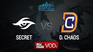 DC vs Secret, game 1