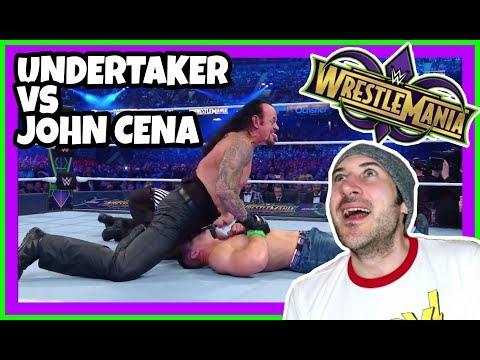 Reaction | THE UNDERTAKER VS JOHN CENA - THE FULL MATCH | WWE Wrestlemania 34 New Orleans April 8 20