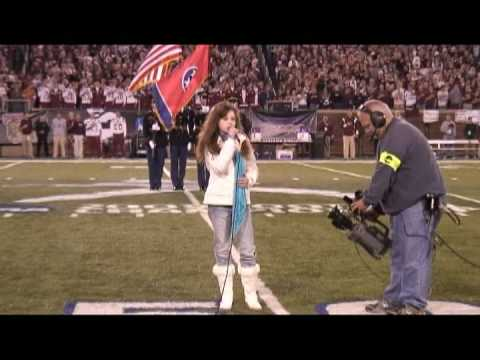 National Anthem By Mackenzie Morgan, 11 Yrs-old, NCAA Div. 1 Championship Game, Finley Field, Chattanooga, TN