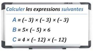 Maths 4ème - Les nombres relatifs en écriture décimale Exercice 4