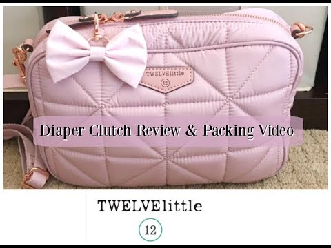 Review/Packing Video: TWELVElittle Diaper Clutch for Potty Training Toddler