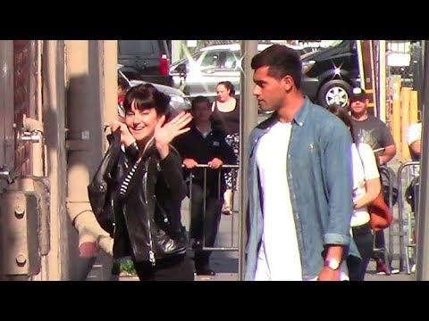 Brunette Shailene Woodley Brings Her HOT Boyfriend Ben Volavola To Jimmy Kimmel Appearance