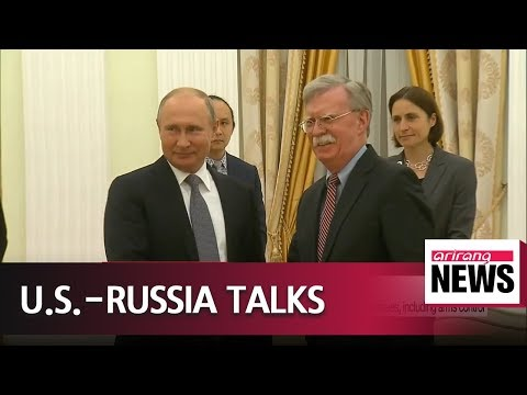 U.S. national security advisor meets Putin to discuss global issues, including arms control