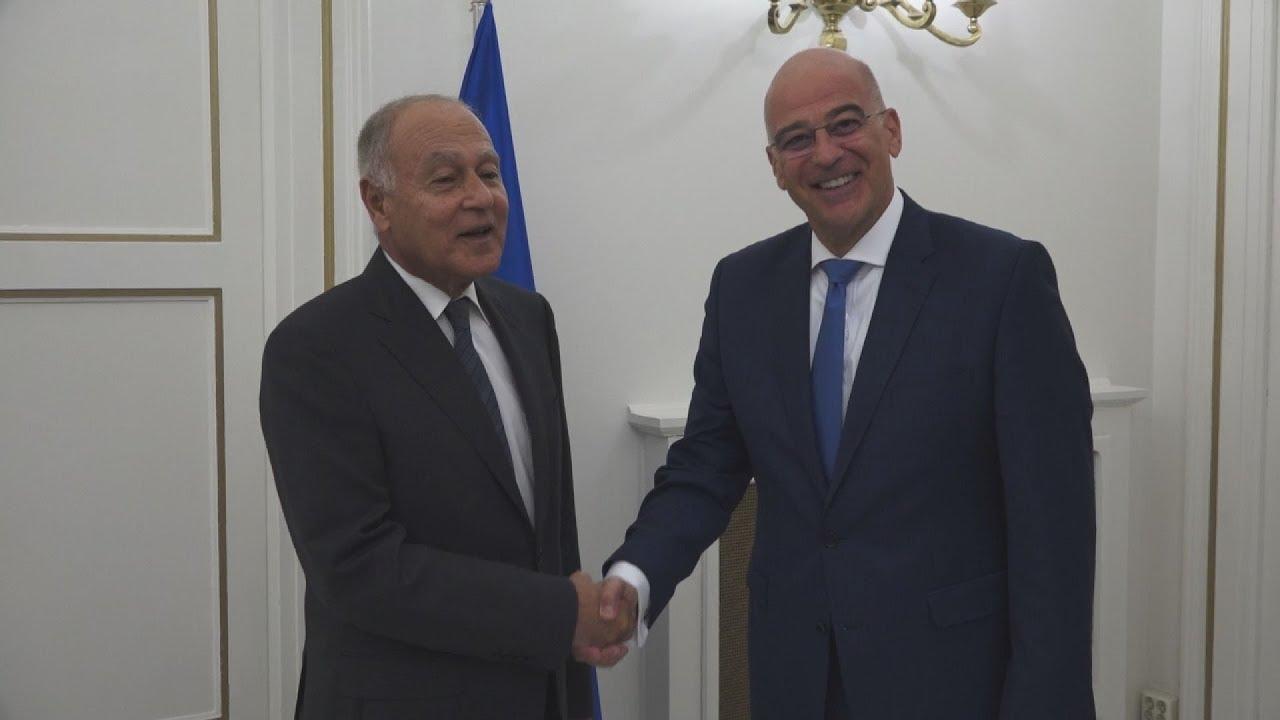 Συνάντηση Δένδια με τον γενικό γραμματέα του Αραβικού Συνδέσμου