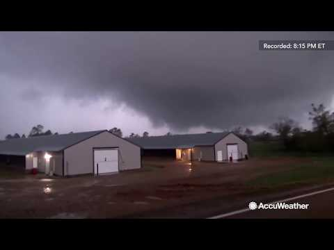 Reed Timmer catches huge wedge tornado forming in southwest Arkansas