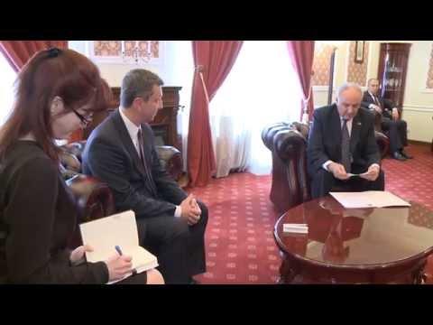 Președintele Nicolae Timofti l-a decorat cu Ordinul de Onoare pe cofondatorul Adunării Parlamentare Republica Moldova – Republica Polonia, Andrzej Halicki