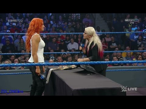 Sexy Alexa Bliss Becky Lynch Contract Signing SmackDown Live