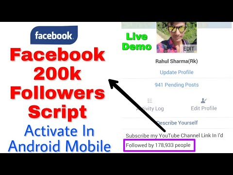 Facebook 200k Followers Script 2018 Free    How to Activate In Android Mobail with proof Live Demo