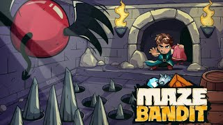 Build, defend and plunder! Create your own dungeon labyrinth using dozens of deadly traps and devices. Compete against other Bandits by mastering their mazes and stealing their princesses. Loot your enemies' treasure and use the money to upgrade your castle and build the best dungeon in the realm.▸ CREATE YOUR DUNGEON HEROTo save the princesses from your enemies' dungeons you need a worthy champion. With over 150 customization options to choose from there are countless unique heroes to create! ▸ BUILD YOUR DUNGEONTo defend your princess you'll need to build your own impenetrable dungeon. Using dozens of deadly traps and terrifying monsters as your dungeon defense, the aim is to build a maze so challenging that no other bandit can complete it and steal your princess. ▸ SAVE THE PRINCESSES (AND GET RICH)Whether you're battling through single player mode or crawling through player made dungeons in PvP mode, you'll have to navigate the deadly mazes to find and rescue the sleeping princess. What's that? Of course we're getting paid! You'll find plenty of chests and coins to loot as you raid enemy dungeons – it's yours to spend. ▸ UPGRADE YOUR CASTLESpend your hard earned – no, stolen – money on upgrading your castle and dungeon maze. Gain access to more options and upgrade your tricky traps and deadly constructions to make your maze even more difficult for other players to clear. ▸ BECOME AWESOMEWatch replays of how other players beat your maze. Identify flaws in your defense and improve your dungeon, then get sweet revenge on the person who beat you! Compete against your Facebook friends and top the leaderboards to become the best Maze Bandit in the kingdom. MAZE BANDIT – FEATURES⦁ Progress through 90 single player levels set in 6 unique kingdoms.⦁ Challenge other players by designing and upgrading tricky constructions and traps in your own maze.⦁ Customize your hero. Change his clothes and appearance.⦁ Grow rich by discovering and plundering rival Bandit mazes and take