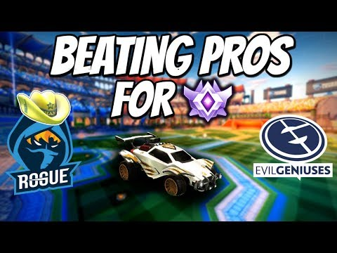 BEATING PRO PLAYERS FOR GC | 1v1 Road to Grand Champion (Rocket League Gameplay) (видео)