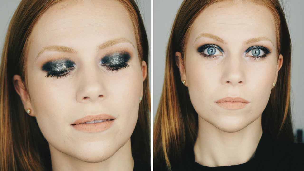 Midnight Blue Halo Eye Tutorial | Simply Redhead
