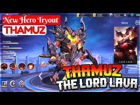 Thamuz The Lord Lava [ New Hero Tryout ] Mobile Moba Thamuz Gameplay And Build