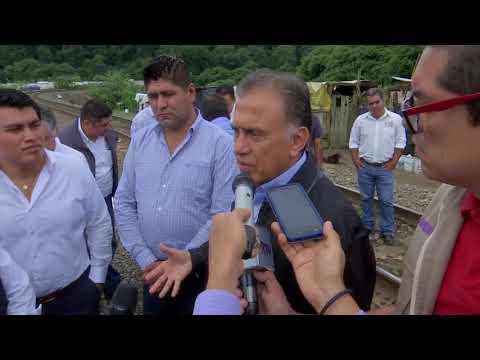 Gobernador de Veracruz supervisa propuesta de colector pluvial en boulevard Xalapa-Banderilla