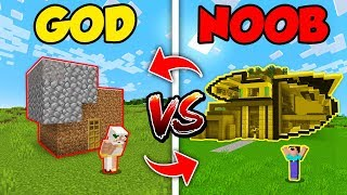 Minecraft Noob Vs God Swapped Futuristic House Build Challenge In Minecraft Compilation Minecraftvideos Tv