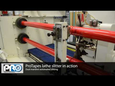 ProTapes Dual mandrel automated slitting