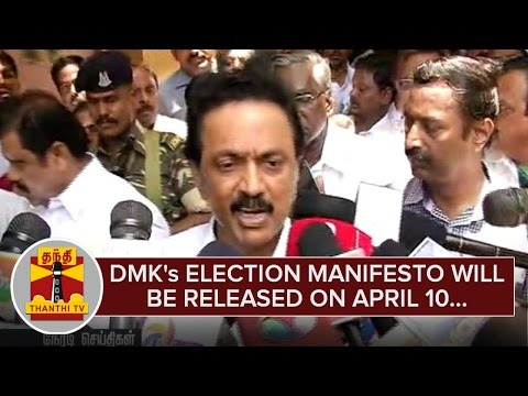 DMKs-Election-Manifesto-will-be-Released-on-April-10--M-K-Stalin--Thanthi-TV