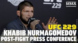 Video UFC 229: Khabib Nurmagomedov Post-Fight Press Conference - MMA Fighting MP3, 3GP, MP4, WEBM, AVI, FLV Oktober 2018
