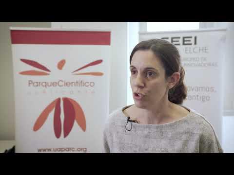 Iluminada Rodríguez de Applynano Solutions en el HUB de Innovación Abierta[;;;][;;;]