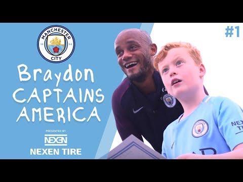 Video: Braydon Captains America | Episode 1 - Vincent Kompany has a big surprise for Braydon!