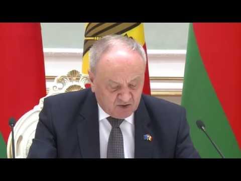 Declarațiile de presă ale președinților Nicolae Timofti și Aleksandr Lukașenko, la Minsk