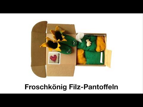Hausschuhe Pantoffeln filzen/felting shoes – Anleitung für Froschkönig Schuhe für Kinder (10)