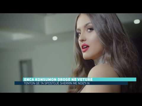 Enca konsumon drogë në veturë (Video)