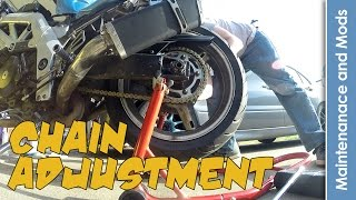 9. How To: Chain Adjustment - Suzuki SV1000S