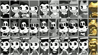 BENDY IN NIGHTMARE RUN ALL COSTUMES