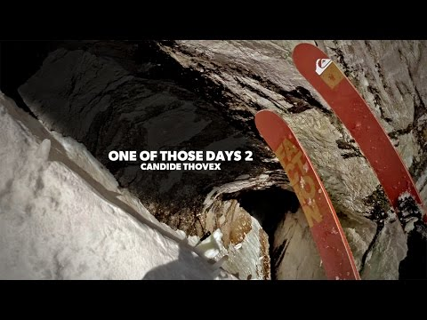 French pro skier, Candide Thovex, skiing Val Blanc in France with a helmet cam