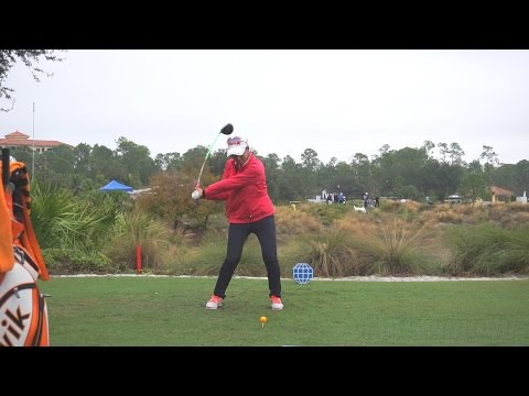 CHELLA CHOI –  FACE ON DRIVER SWING REGULAR & SLOW MOTION TIBURON GOLF COURSE 2014 CME 1080p HD