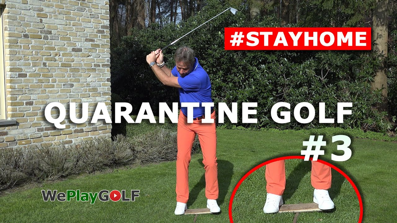 Quarantine Golf Part 3 - Easy swing transition drill at home
