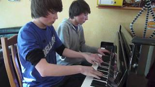 Video DragonForce - Through the Fire and Flames Piano 4 Hands Cover MP3, 3GP, MP4, WEBM, AVI, FLV Desember 2017