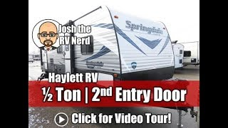 7. 2018 Springdale SS 2720BH Two Door Half Ton Bunkhouse Keystone Travel Trailer