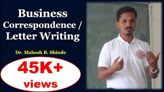Business correspondence (letter writing)
