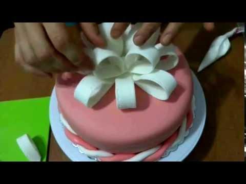 как сделать бант из мастики на торт пошаговое фото