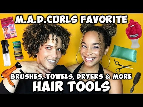 FAVORITE HAIR TOOLS: Brushes, Towels, Dryers & More | M.A.D.CURLS Week Of Favorites