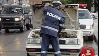 Hidden Camera: Cop Wrecks Car!