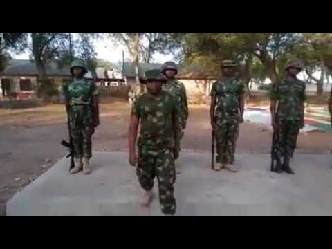 Nigerian Army Parade In Hausa